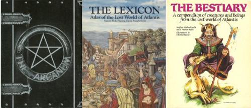 Portadas de los libros de La Trilogía de Atlantis