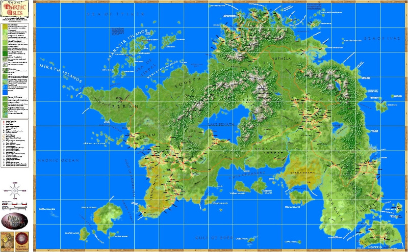Mapa de la isla de Hârn
