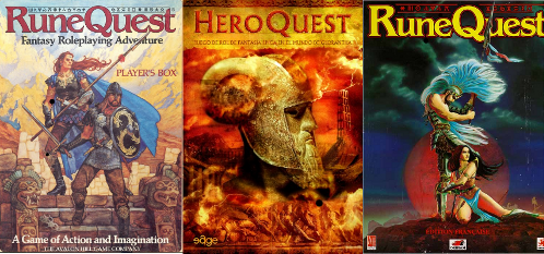 Diversas portadas de Glorantha