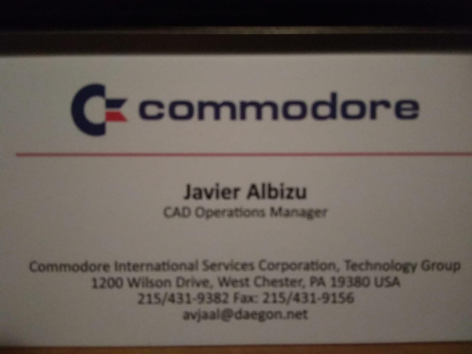 Tarjeta Commodore